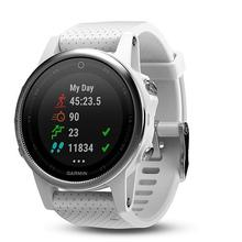 Garmin Fenix 5S Silver Optic, White band
