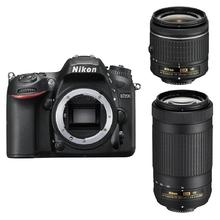 Nikon D7200 + 18-55 AF-P VR + 70-300mm AF-P DX VR