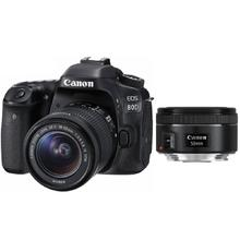 Canon EOS 80D + 18-55 mm IS STM + EF 50 f/1,8