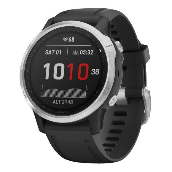 Garmin Fenix 6S Silver black/black band  - 1