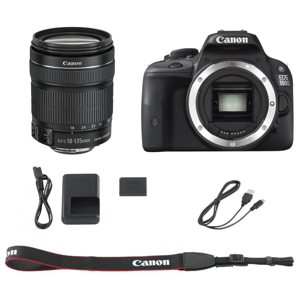 Canon Eos 100d 18 135 Is Stm Kit 55 100 D 6